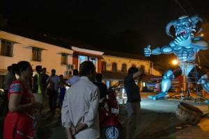 Vorbereitungen zum Divali-Fest in Panaji