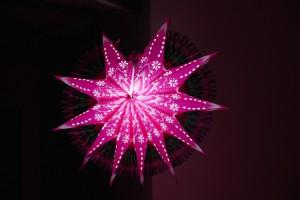 Leuchtende Sterne in Trivandrum, Kerala