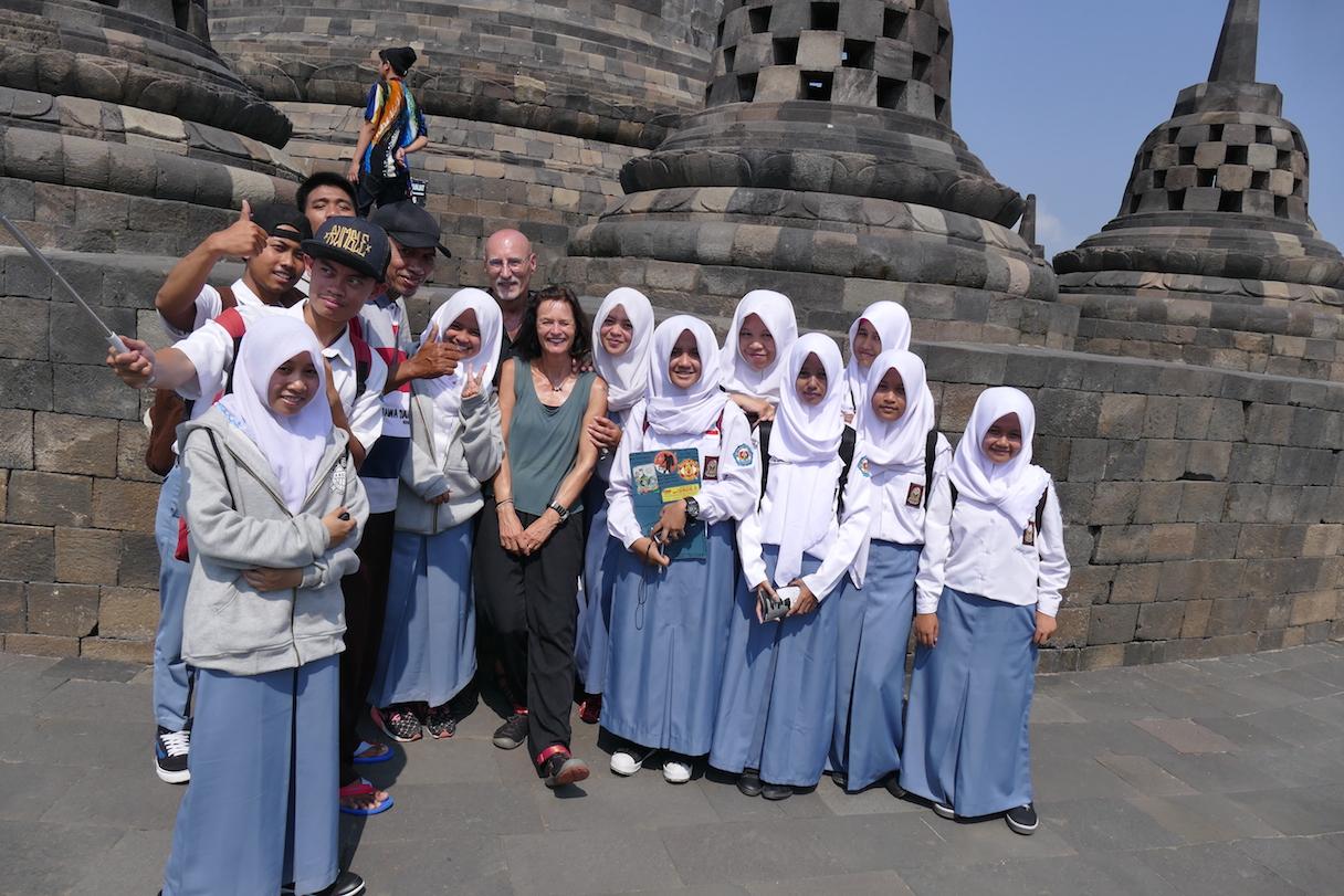 Borobudur, Begegnungen
