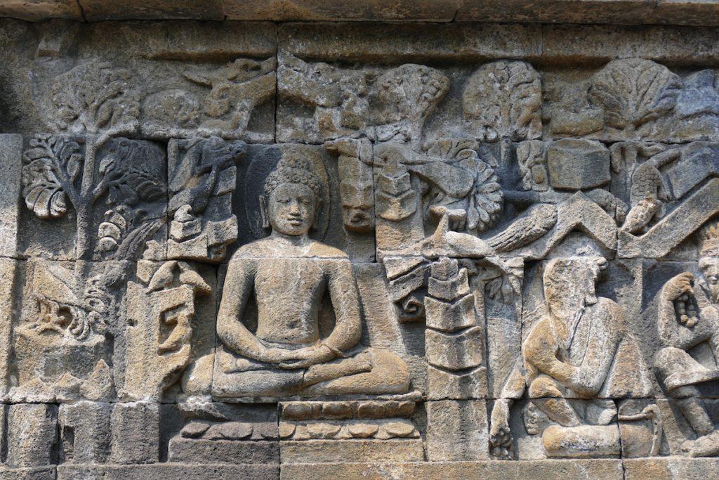 Reliefs zum Leben Buddhas