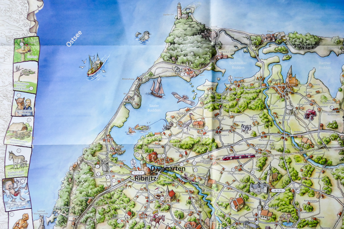 Fischland Darß Zingst Karte.Unterwegs In Der Region Fischland Darß Zingst Pfade Teil 1