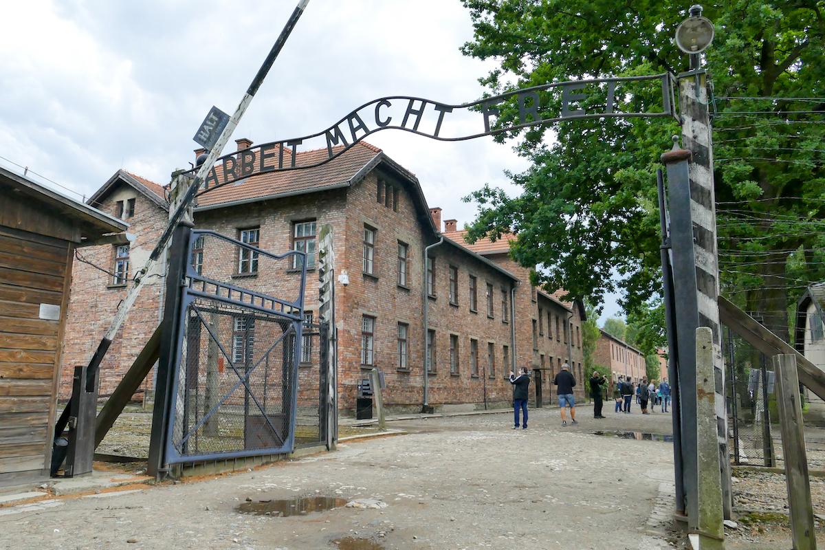Auschwitz, Eingang zu Auschwitz I