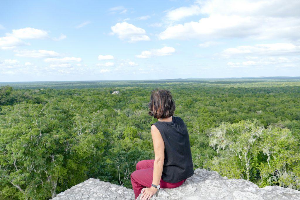Calakmul, dort zu sitzen, ein unbeschreibliches Gefuehl