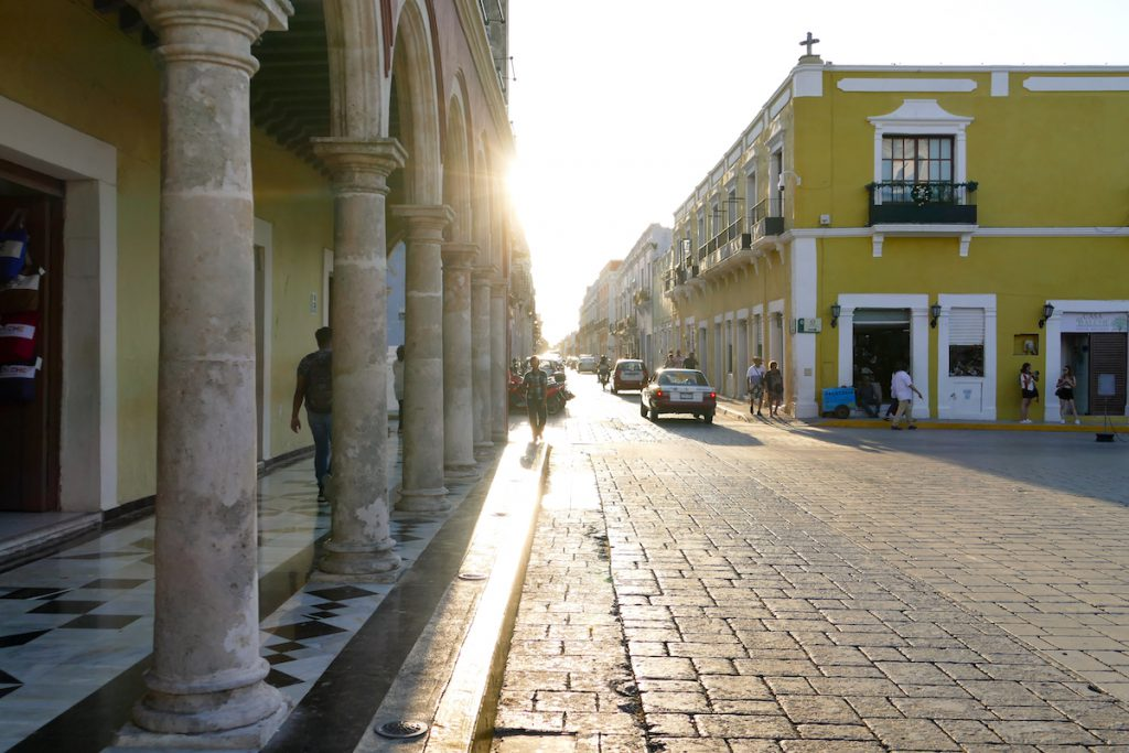 Campeche, Calle 10 am spaeten Nachmittag
