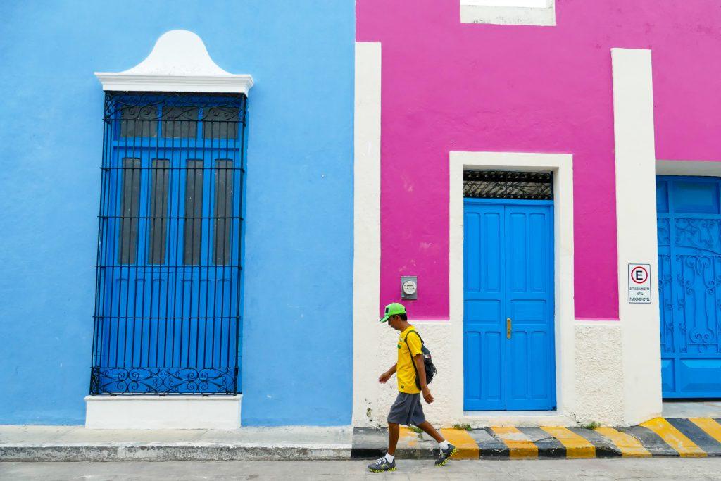 Campeche, knallige Farben in der historischen Altstadt