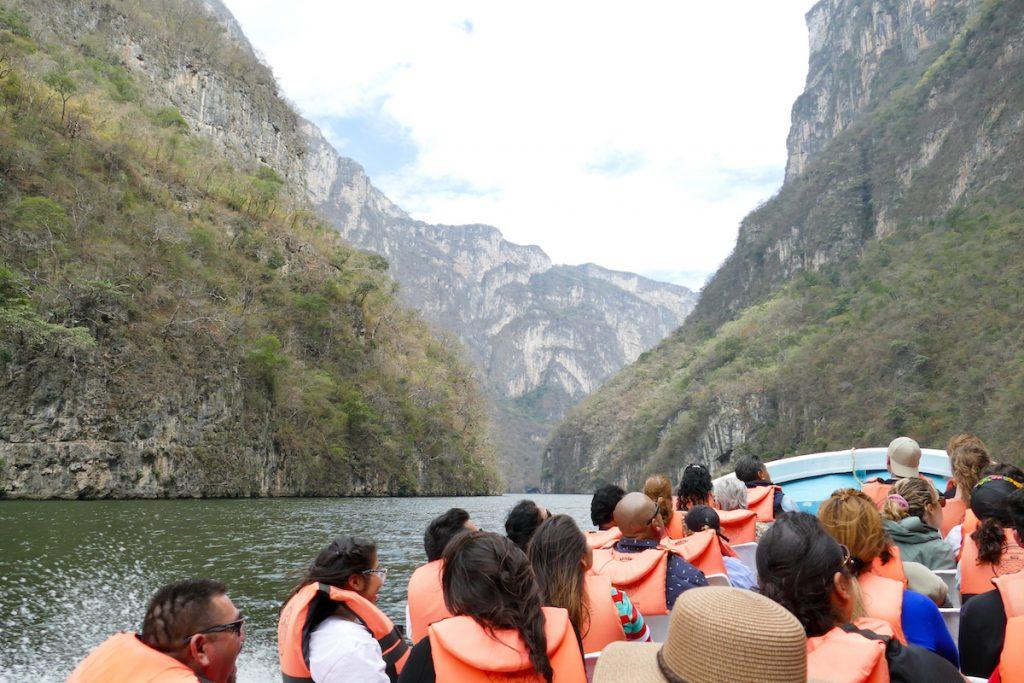 Canyon del Sumidero, im Speedboat durch die Schlucht