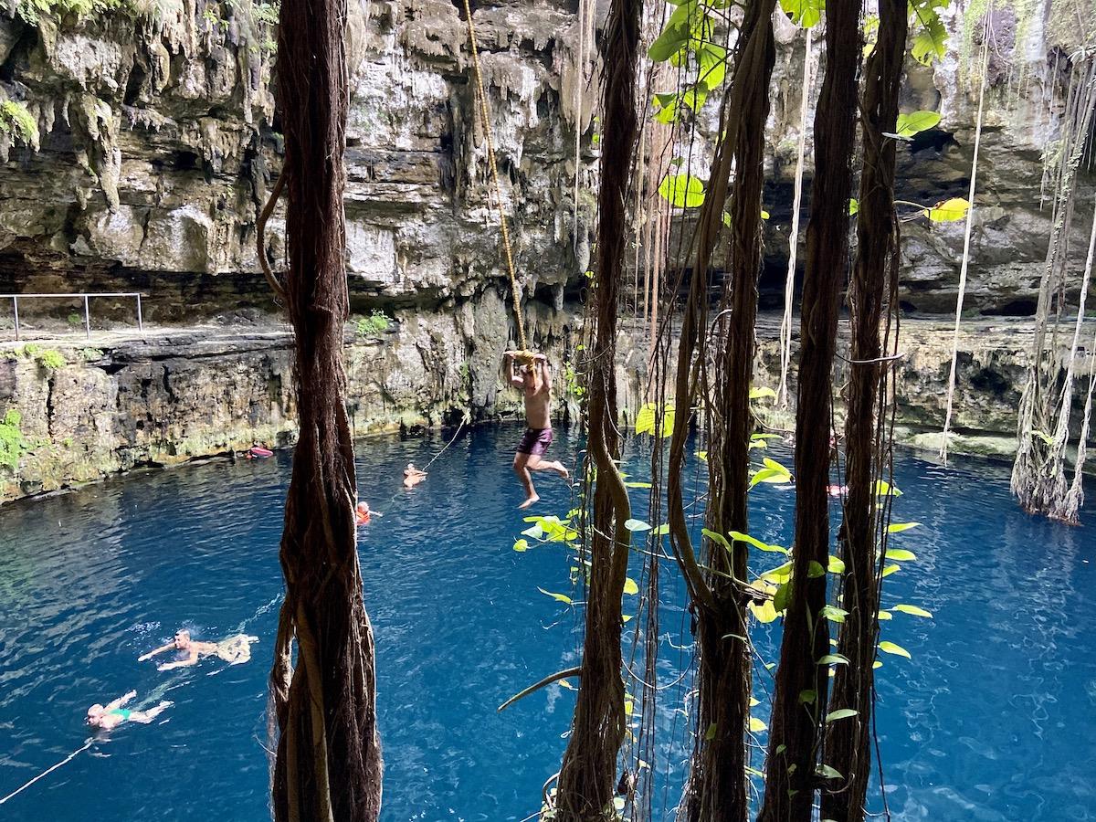 Cenote Oxman, was fuer ein Spass
