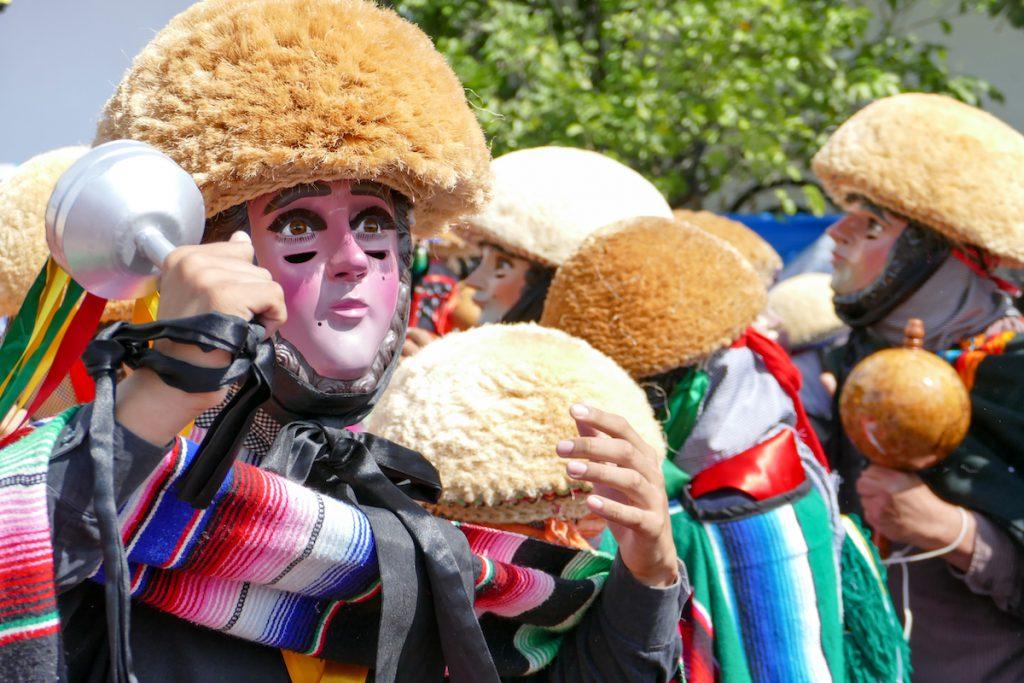 Chiapa de Chiapa de Corzo, die Maenner tragen Masken, die Maenner tragen Masken
