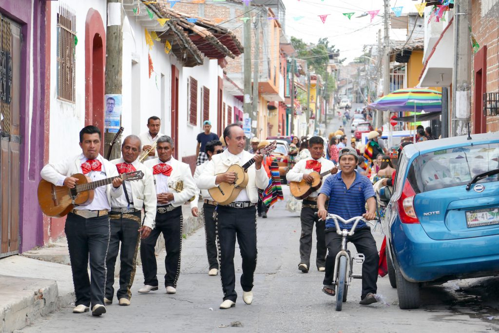 Chiapa de Corzo, die Mariachis duerfen natuerlich nicht fehlen