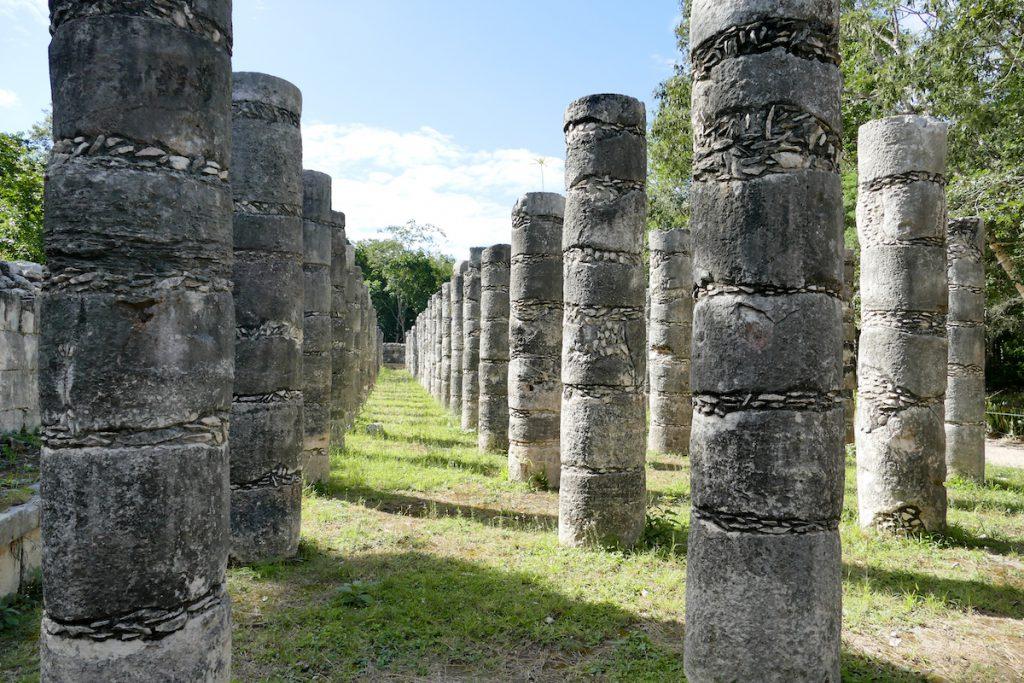 Chichen-Itza, die Halle der 1000 Saeulen