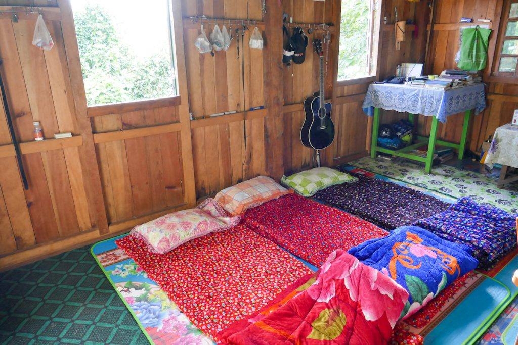 Chin State, Wanderung Tag 1, rustikale Uebernachtung