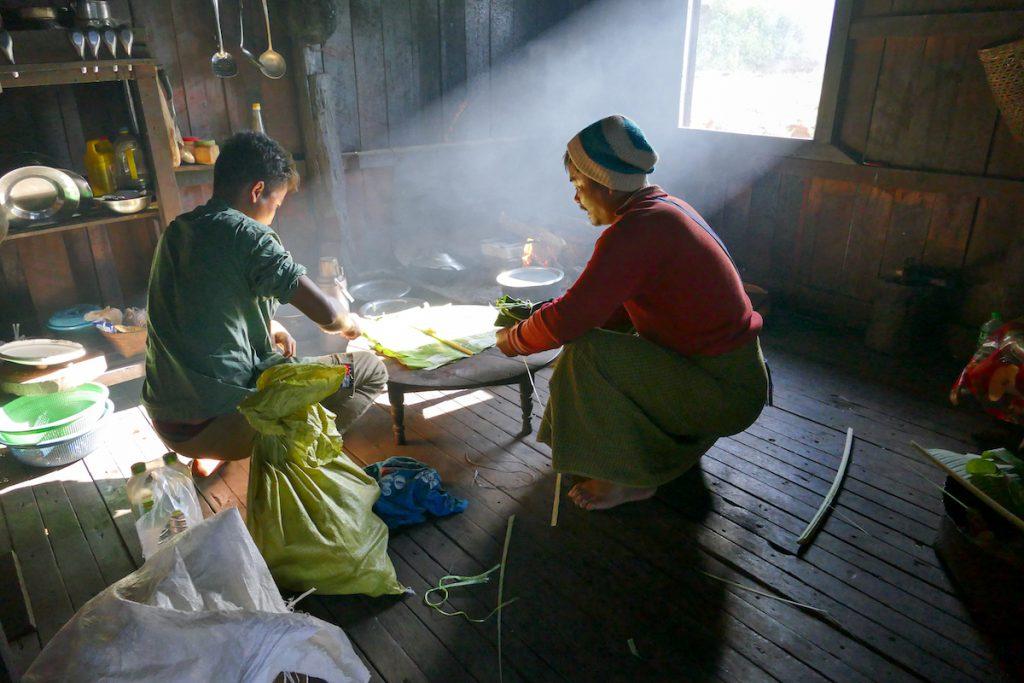 Chin State, Wanderung Tag 1, unser Team koch koestlich
