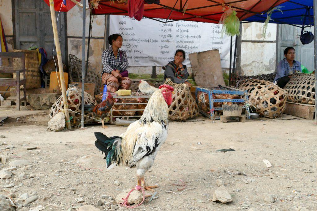 Chin State, auf dem Markt in Mindat