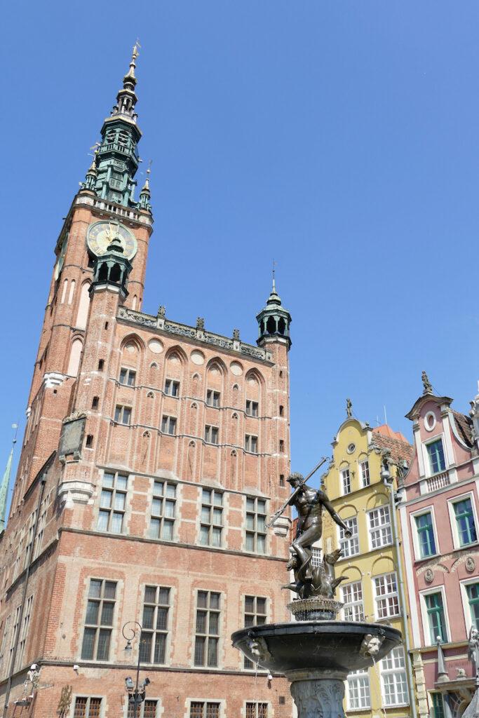 Danzig, Altes Rathaus und Neptunbrunnen