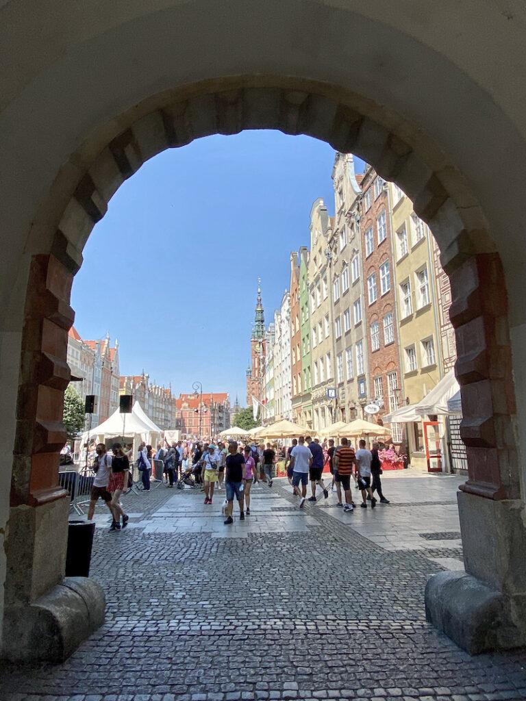 Danzig, Altstad, Gruenes Tor, Blick auf den Langen Markt, Dlugi Targ