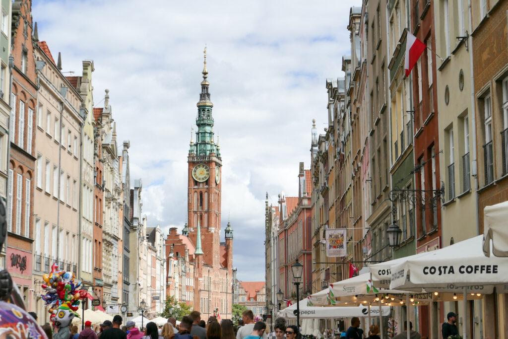 Danzig, Altstadt, Blick durch die Langgasse