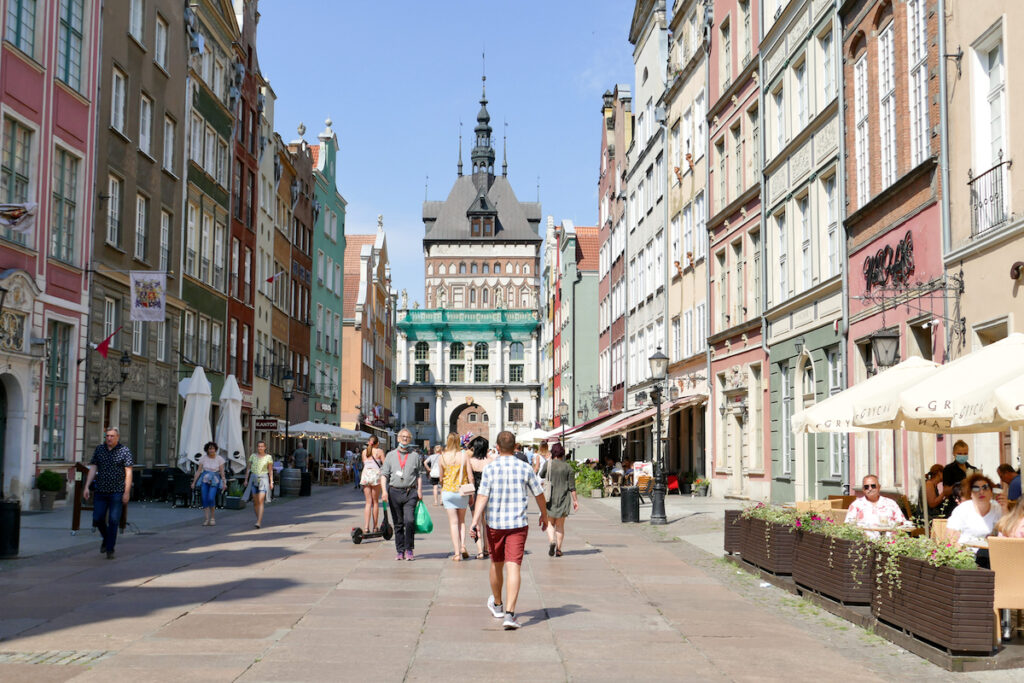Danzig, Altstadt, Goldenes Tor am Ende der Langgasse