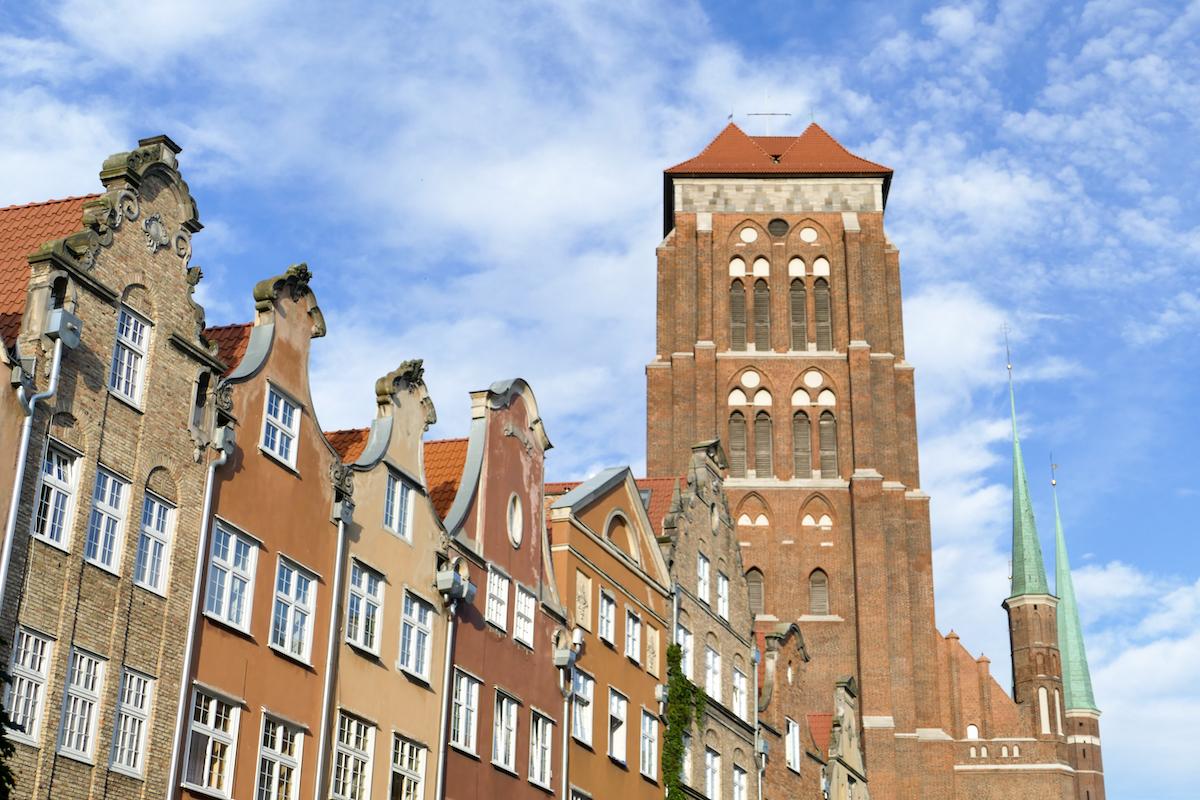 Danzig, Altstadt, Marienkirche, vom Turm hat man eine praechtige Aussicht