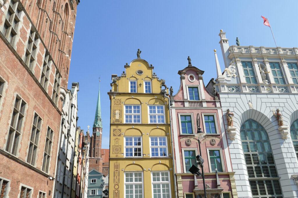 Danzig, Altstadt, beeindruckende Fassaden