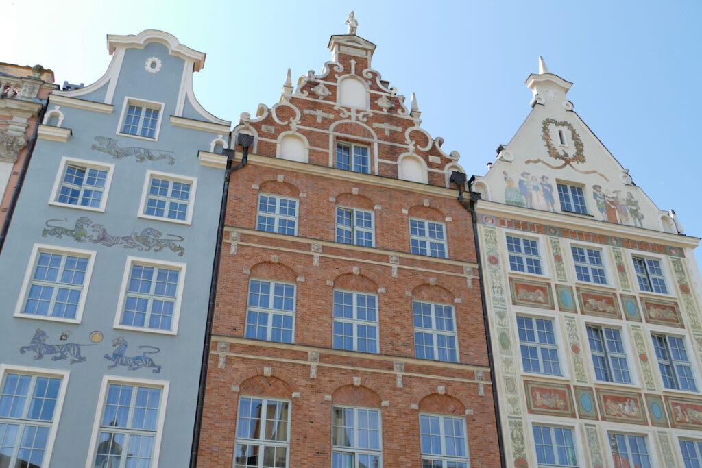 Danzig, Altstadt, eine Fassade schoener als die andere
