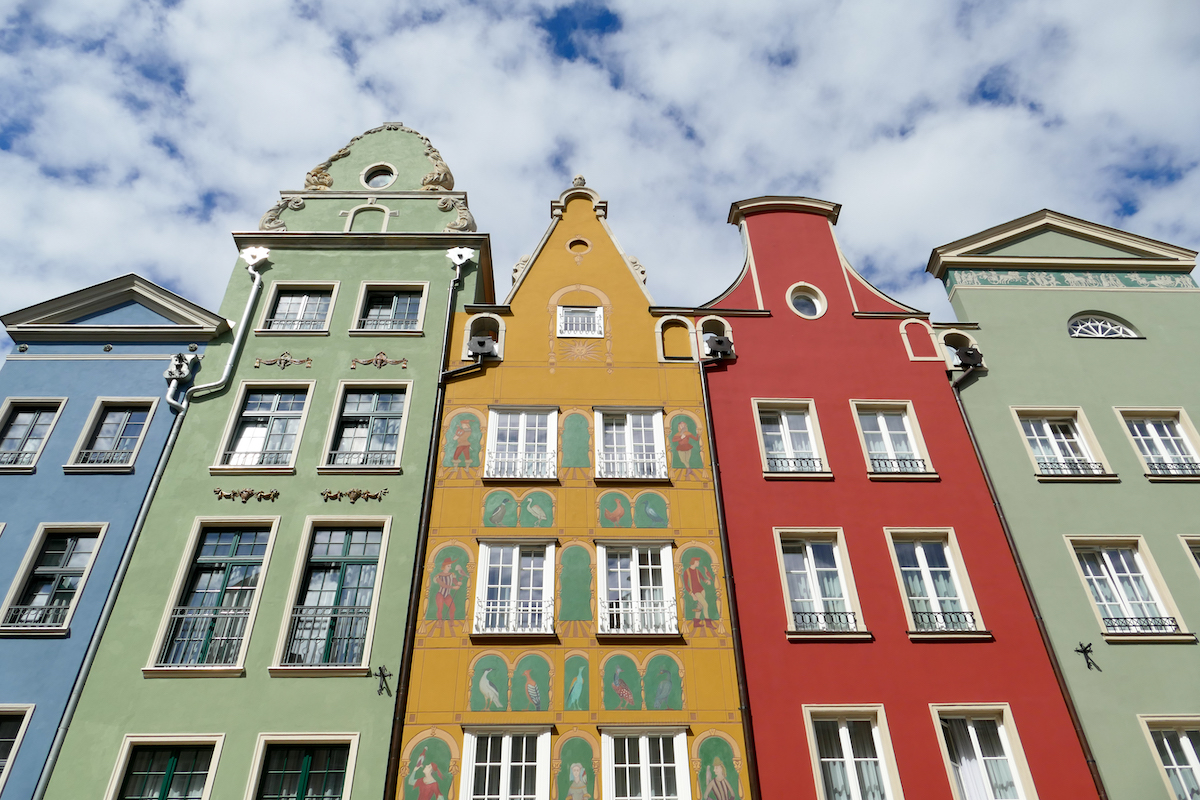 Danzig, Altstadt, liebevoll renovierte Fassaden