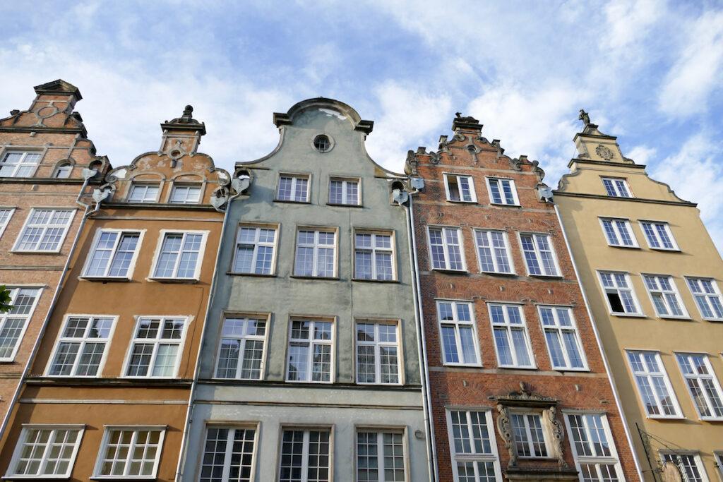 Danzig, Altstadt, wunderschoene Fassaden
