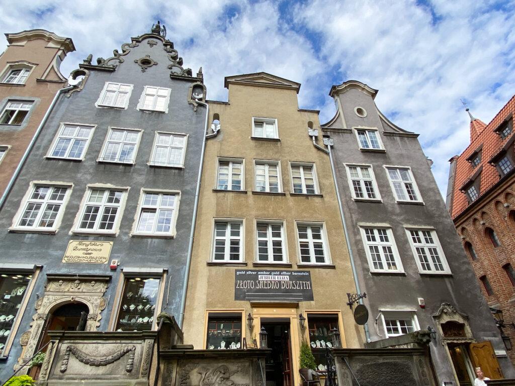 Danzig, Mariacka, Hausfassaden