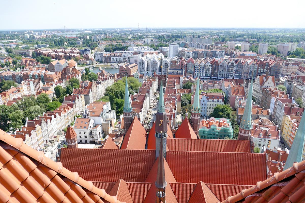 Danzig, Marienkirche, Blick auf die Stadt
