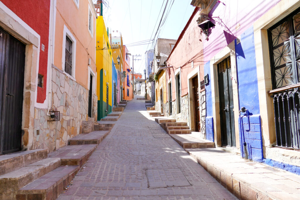 Guanajuato, El Pipila, auf dem Weg zum Aussichtspunkt Pipila