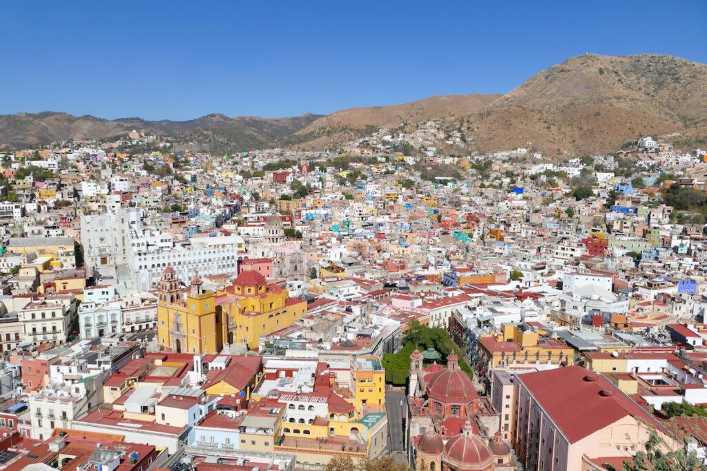 Guanajuato, El Pipila, der beruehmte Blick auf die schoene Stadt