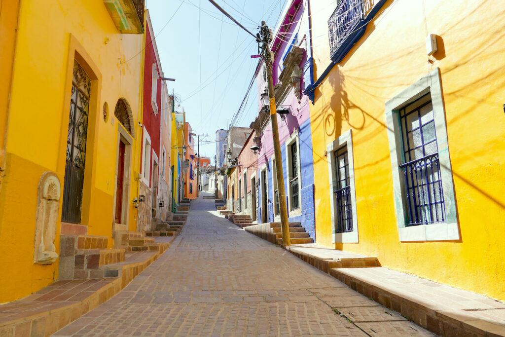 Guanajuato, El Pipila, durch die bunten Gassen zum Aussichtspunkt