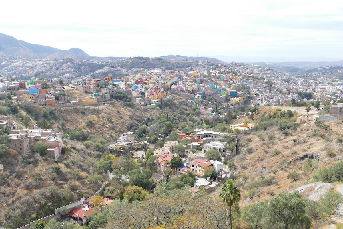 Guanajuato, Mellado, Blick auf Guanajuato