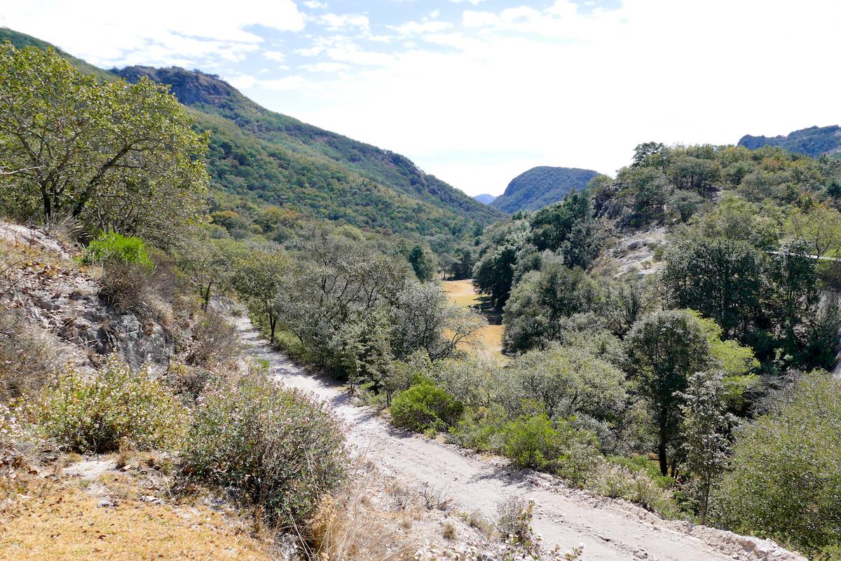 Guanajuato, Santa Rosa, leider fuehrt dieser Weg ins Nirgendwo