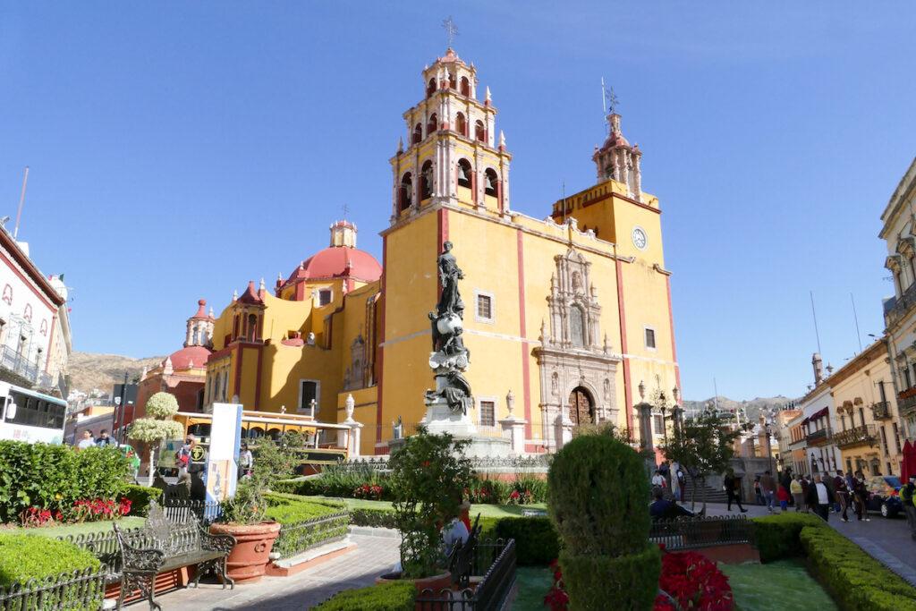 Guanajuato, Zentrum, Kathedrale am Plaza de la Paz