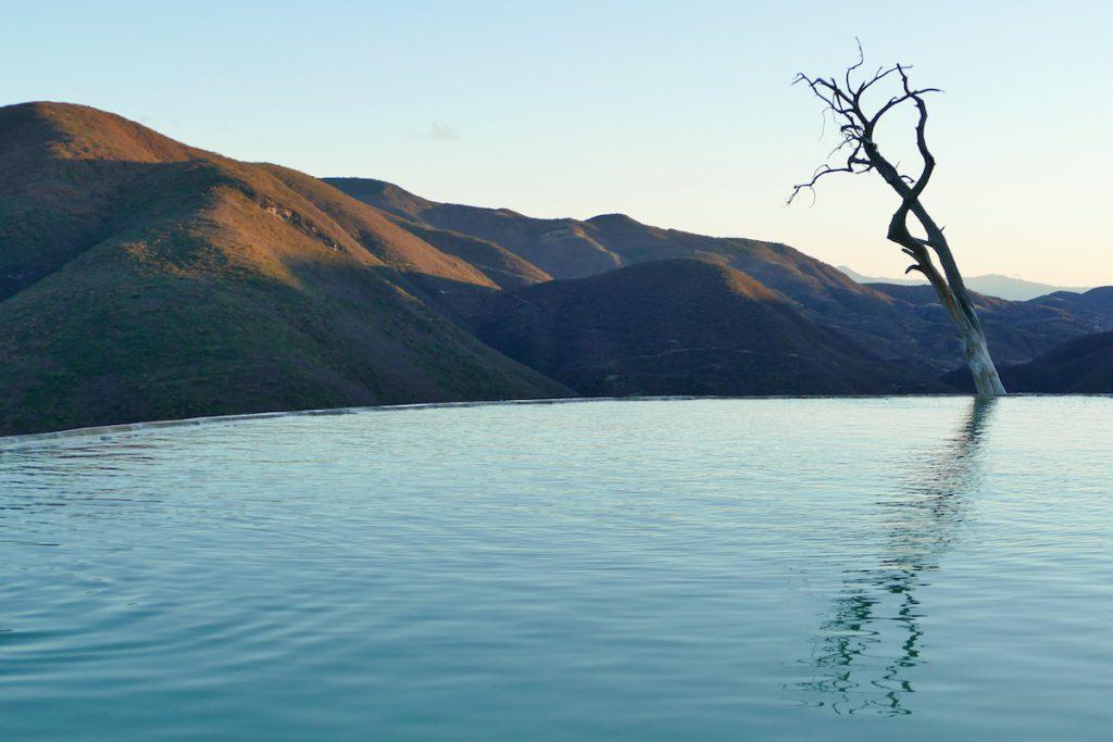 Hierve el Agua, am ersten Becken
