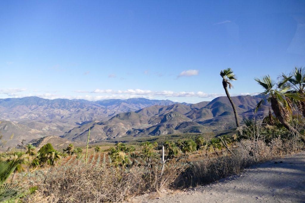 Hierve el Agua, grandiose Landschaft auf dem Weg dorthin