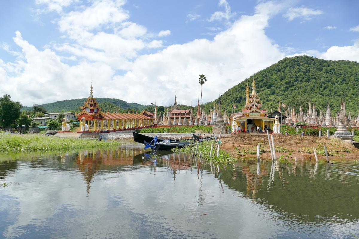 Inle See, die Pagode Takhaung Mwetaw