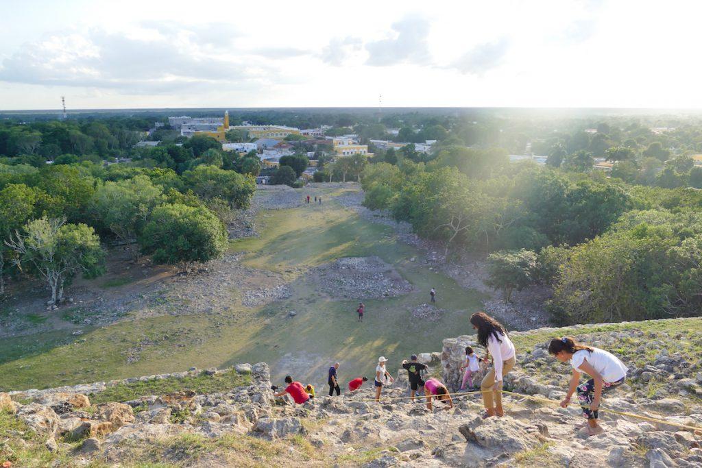 Izamal, Kinich Kakmo Pyramide, ein schoener Ort fuer den Spaetnachmittag