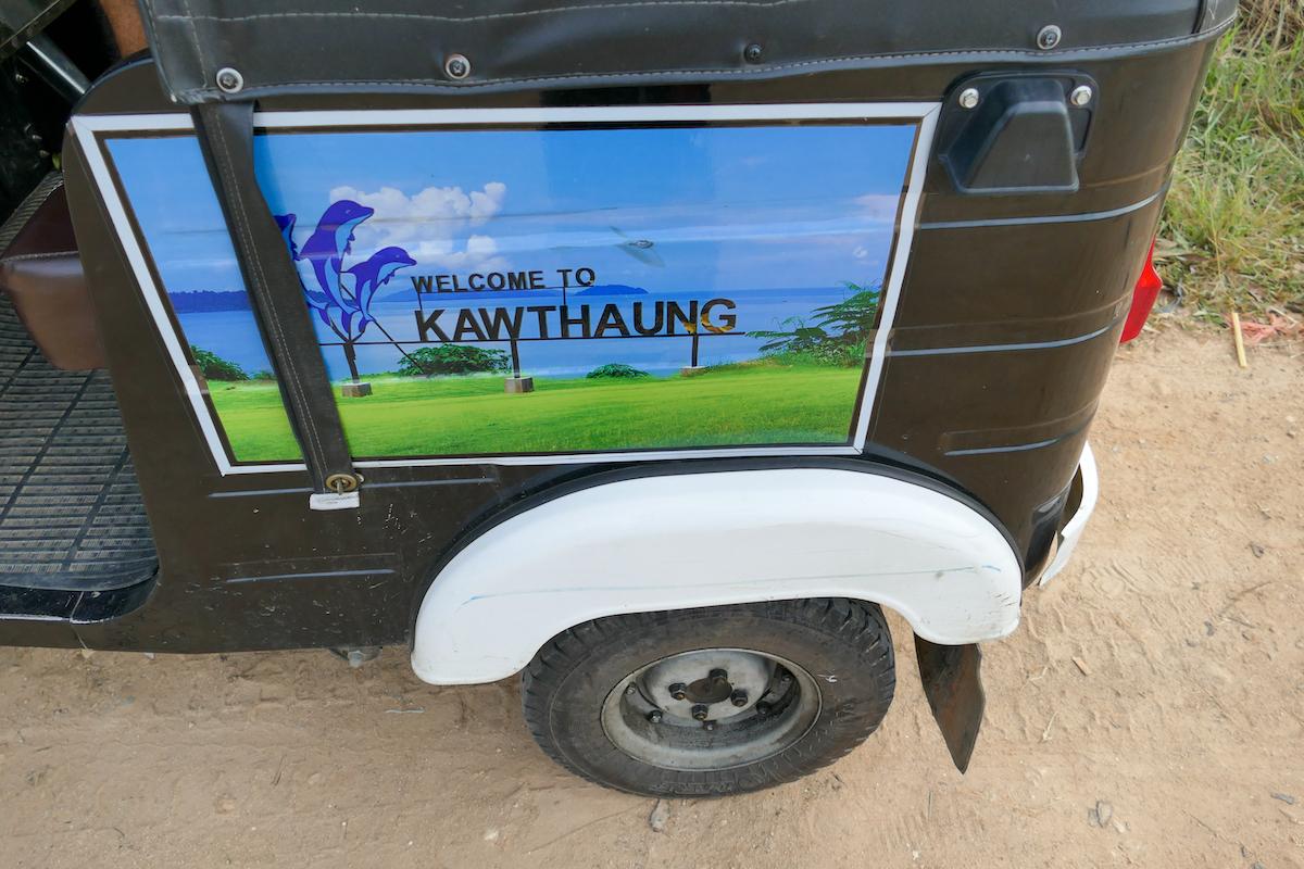 Kawthaung, Tuktuks haben den Weg auch hierher gefunden