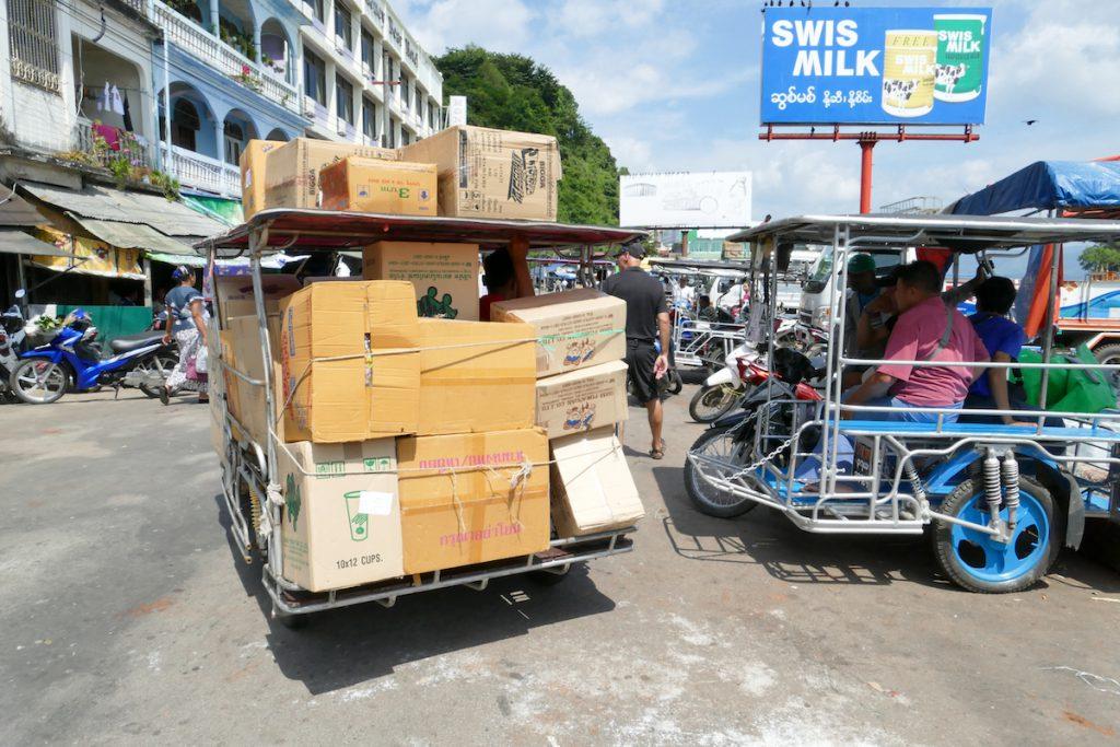 Kawthaung, Warenumschlag
