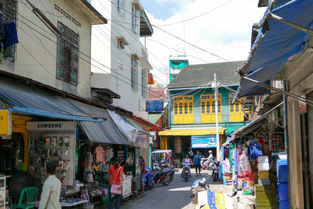 Kawthaung, im Marktviertel