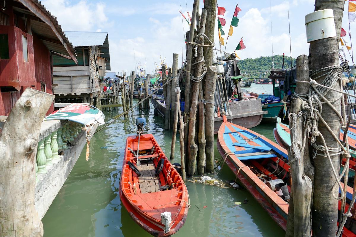 Kawthaung, im alten Hafen
