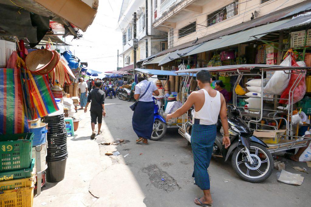 Kawthaung, wuseliges Treiben im Marktviertel