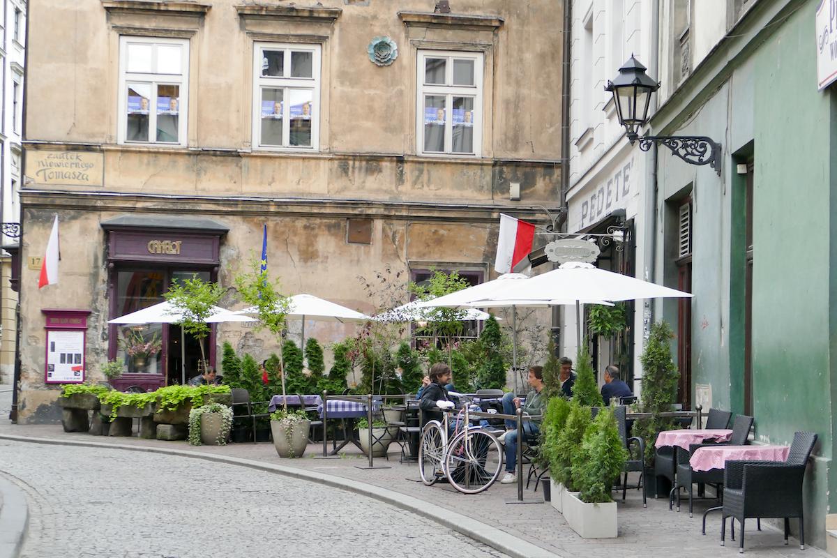 Krakau, Altstadt, entspannte Atmosphaere