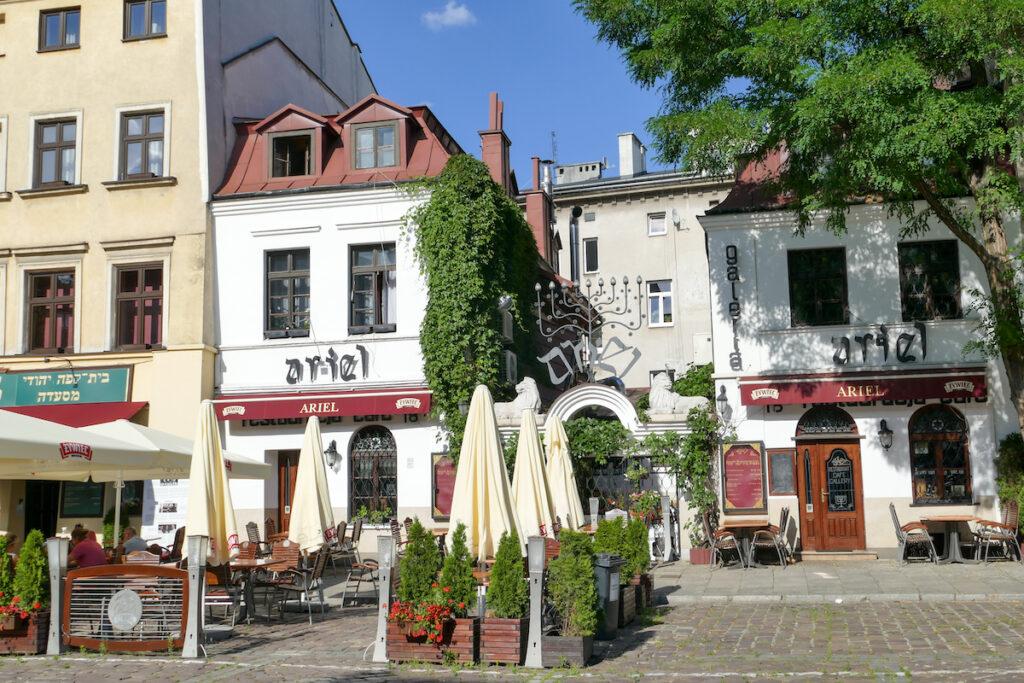 Krakau, Kazimierz, die beruehmte Szeroka Gasse