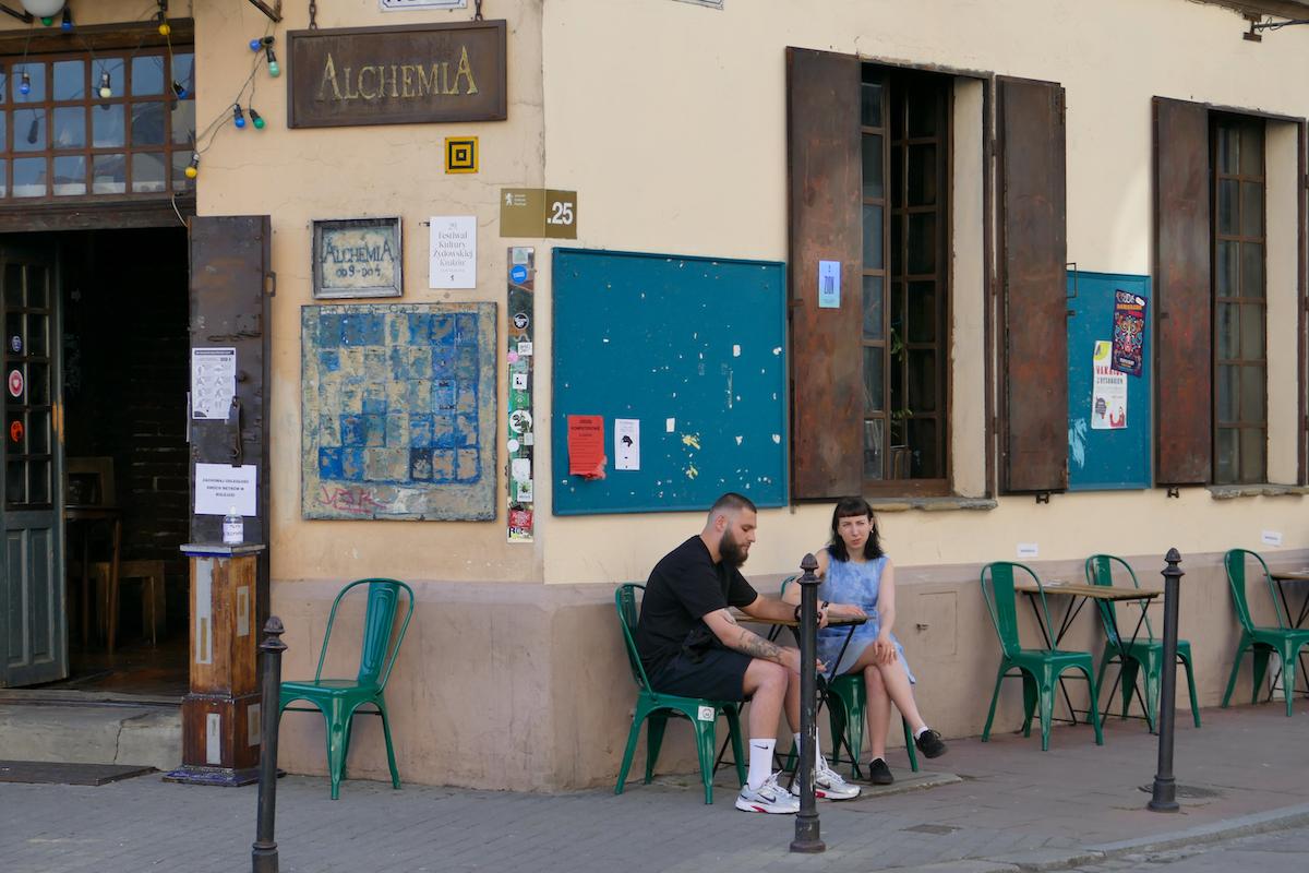 Krakau, Kazimierz, inzwischen ein hippes Viertel