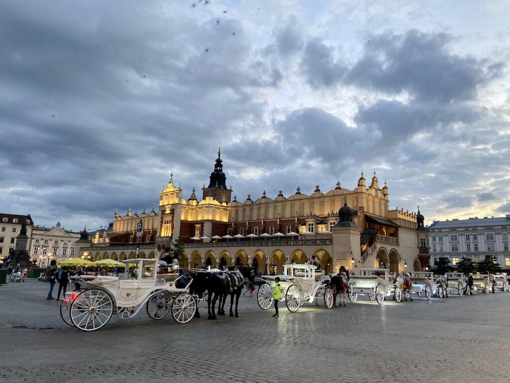 Krakau, Rynek, der herrliche Platz am Abend