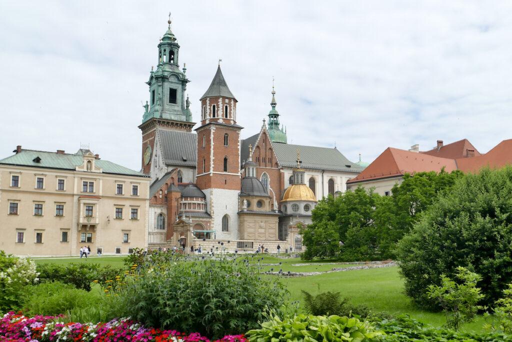 Krakau, Wawelburg, Blick auf Innenhof und Kathedrale