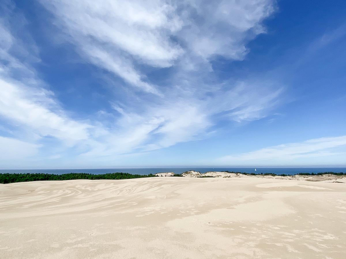 Leba Duene, Blick auf die Ostsee