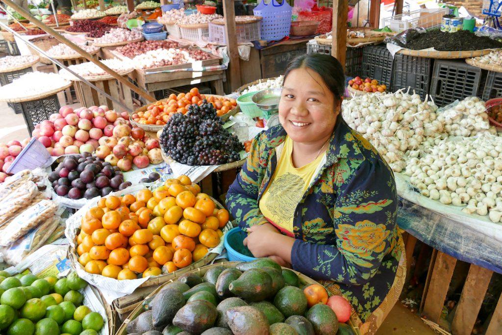 Loikaw, auf dem Markt